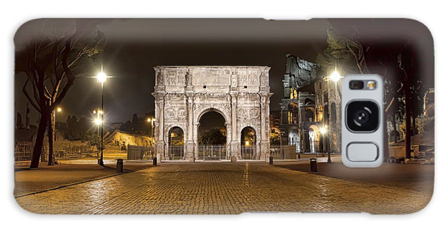 Italy Galaxy S8 Case featuring the photograph Arch At Night by Janet Fikar