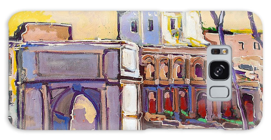 Rome Galaxy Case featuring the painting Arco Di Romano by Kurt Hausmann