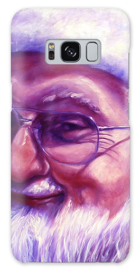 Portrait Galaxy Case featuring the painting Are You Sure You Have Been Nice by Shannon Grissom