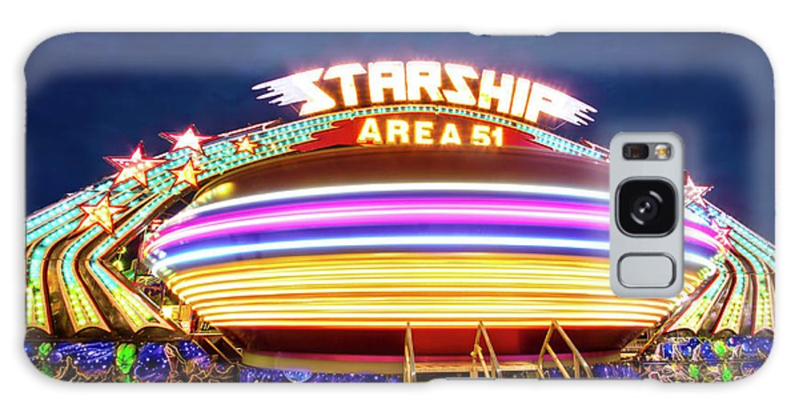 Carnival Galaxy S8 Case featuring the photograph Area 51 Gravitron by Mark Andrew Thomas