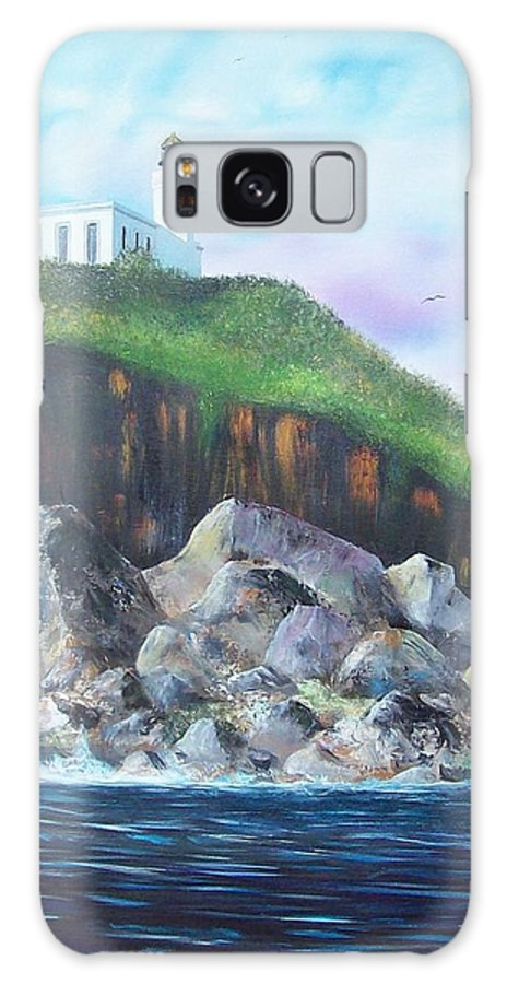 Arecibo Lighthouse Galaxy S8 Case featuring the painting Arecibo Lighthouse by Tony Rodriguez
