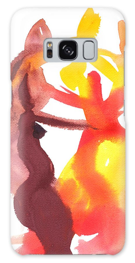 Matisse Colour Abstract Painting Watercolour Galaxy S8 Case featuring the painting Arembepe 20 by Jorge Berlato