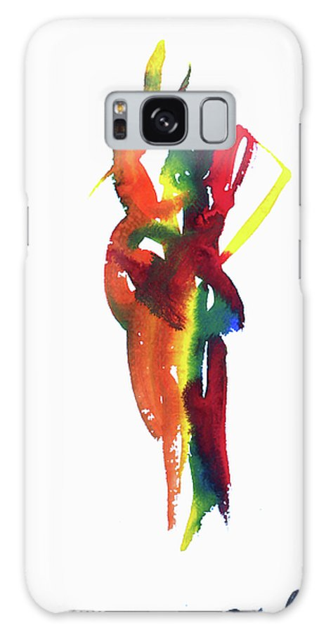 Love Galaxy S8 Case featuring the painting Arembepe 26 by Jorge Berlato