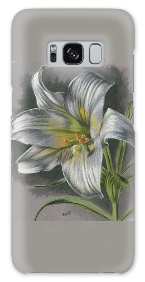 Easter Lily Galaxy S8 Case featuring the mixed media Arise by Barbara Keith