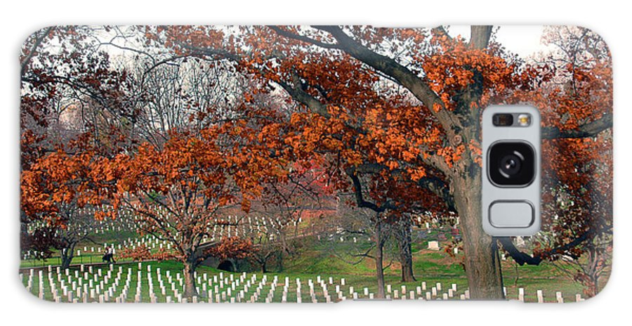 Veteran Galaxy S8 Case featuring the photograph Arlington Cemetery In Fall by Carolyn Marshall