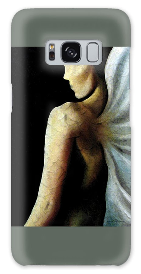 Angel Galaxy S8 Case featuring the painting Armaita Angel Of Truth Wisdom And Goodness by Elizabeth Lisy Figueroa