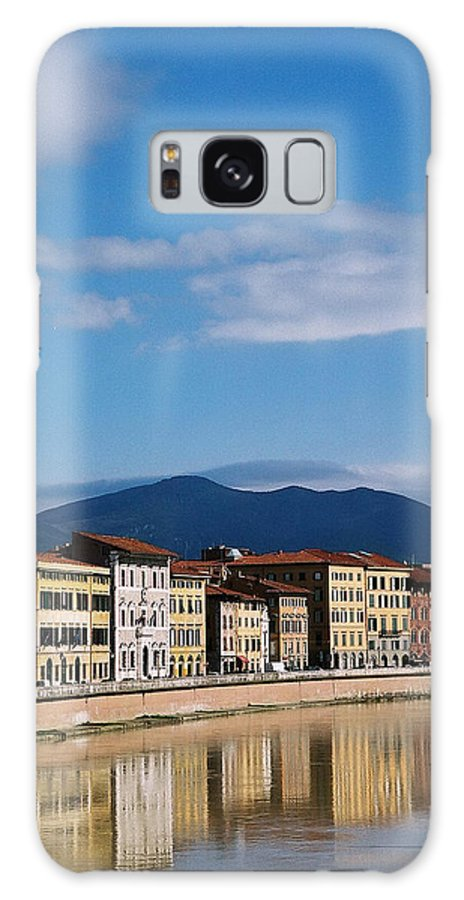Pisa Galaxy S8 Case featuring the photograph Arno River Pisa Italy by Kathy Schumann