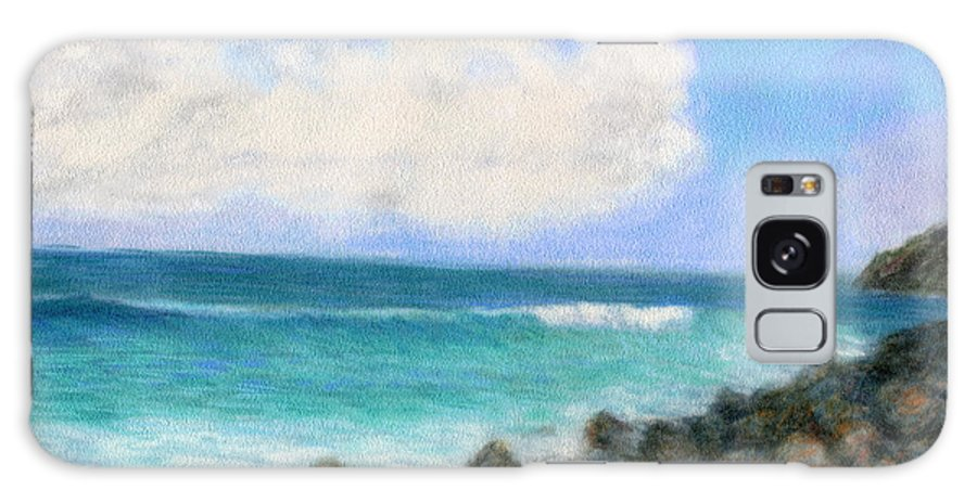 Rainbow Colors Pastel Galaxy Case featuring the painting Around The Point by Kenneth Grzesik