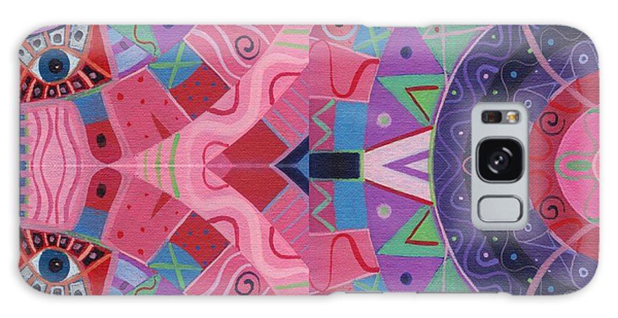 Asymmetrical Abstraction Galaxy S8 Case featuring the digital art Arrangement 3 - T J O D 37 by Helena Tiainen