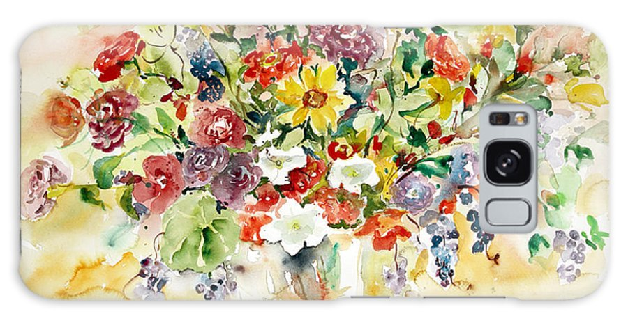 Watercolor Galaxy S8 Case featuring the painting Arrangement IIi by Ingrid Dohm