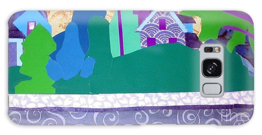 Landscape Galaxy S8 Case featuring the mixed media Art Colony by Debra Bretton Robinson