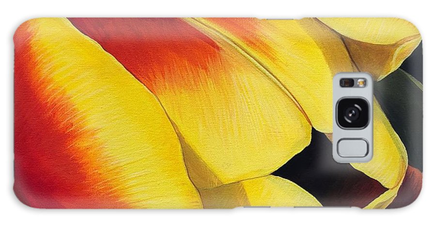 Tulip Galaxy Case featuring the painting Art of Color by Hunter Jay