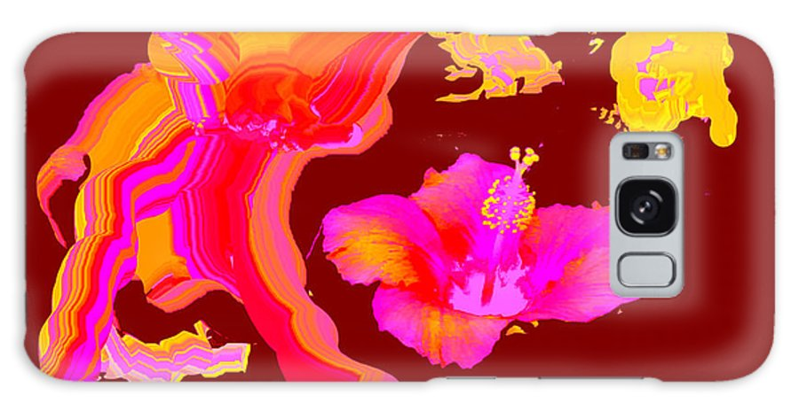 Hibiscus 1 Galaxy S8 Case featuring the digital art Art Play Hibiscus 1 by The MUSEUM Artist Series jGibney