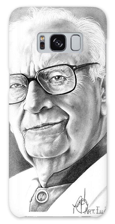 Portrait Galaxy S8 Case featuring the drawing Arthur C. Clarke by Murphy Elliott