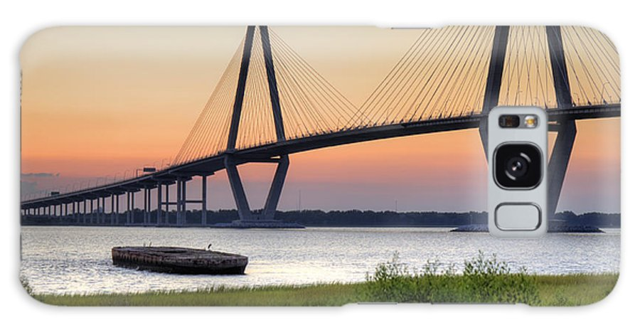 Arthur Ravenel Bridge Charleston South Carolina Landscape Hdr High Dynamic Range Dustin Ryan Galaxy S8 Case featuring the photograph Arthur Ravenel Jr. Bridge Sunset by Dustin K Ryan