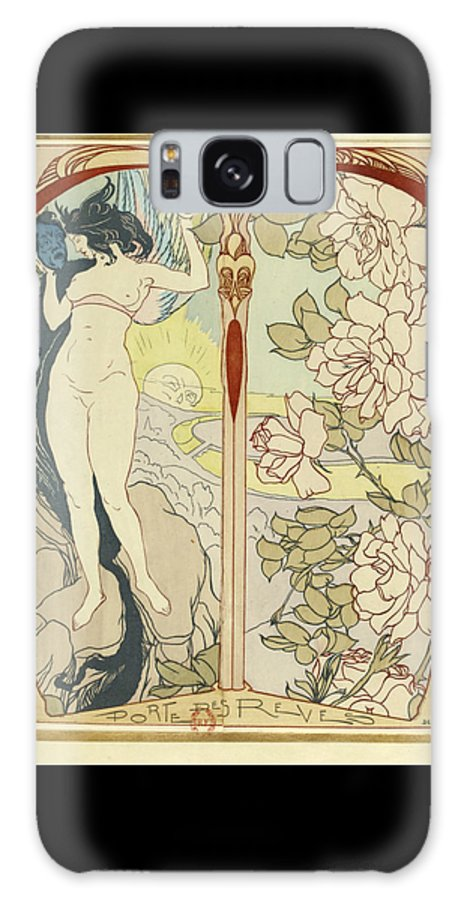 Georges De Feure Galaxy S8 Case featuring the painting Artwork For La Portes Des Reves by Georges de Feure