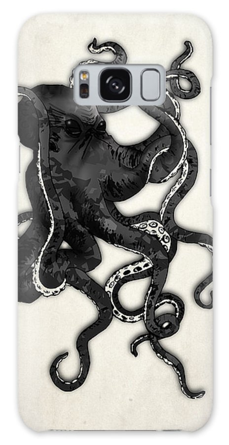 Sea Galaxy S8 Case featuring the digital art Octopus by Nicklas Gustafsson