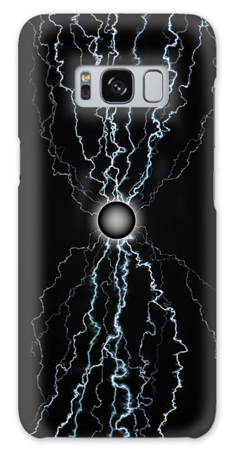 Black Galaxy S8 Case featuring the digital art Power Field Black by James Willoughby III