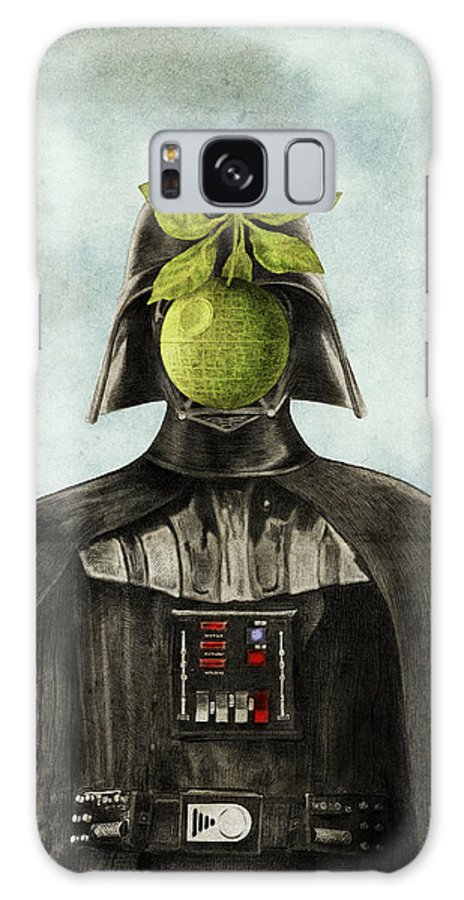 Magritte Galaxy Case featuring the drawing Son of Darkness by Eric Fan
