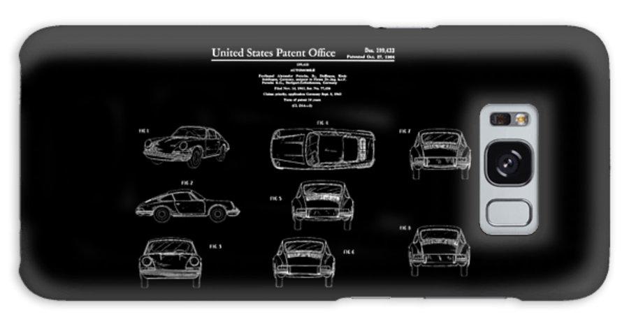 Porsche 911 Patent Galaxy Case featuring the photograph Porsche 911 Patent by Mark Rogan