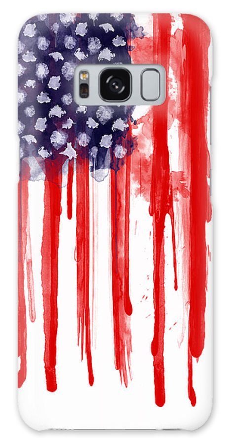 America Galaxy S8 Case featuring the painting American Spatter Flag by Nicklas Gustafsson
