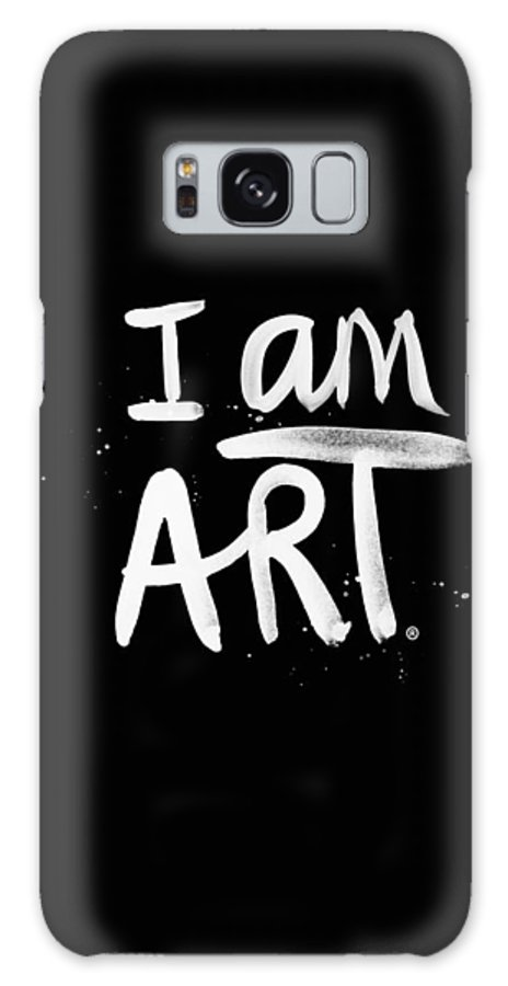 I Am Art Galaxy Case featuring the mixed media I Am Art- Painted by Linda Woods