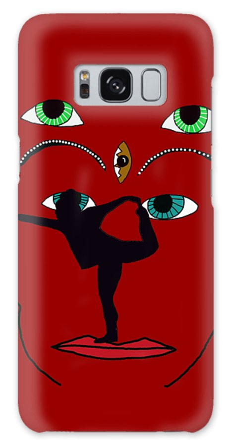 Yoga Galaxy S8 Case featuring the digital art Face It by Priscilla Wolfe