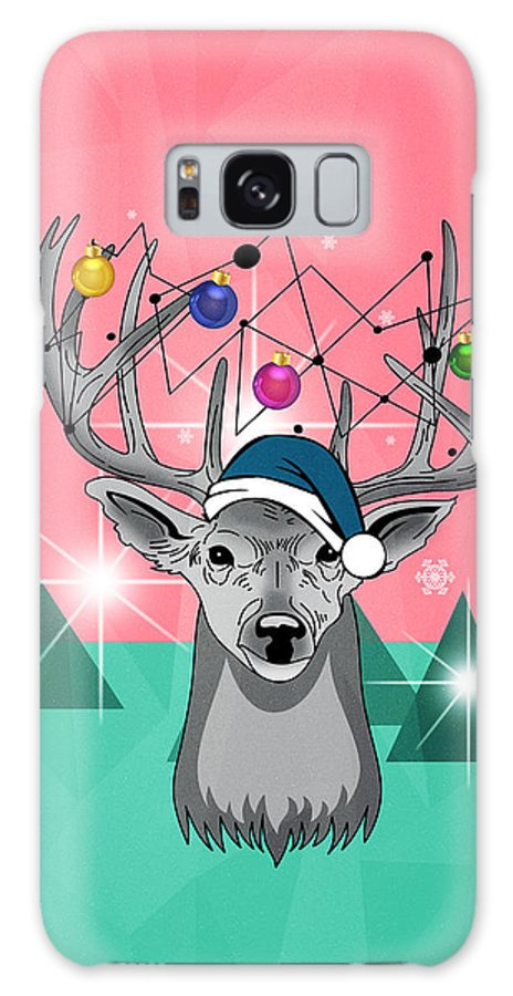 Christmas Galaxy S8 Case featuring the painting Christmas Deer by Mark Ashkenazi