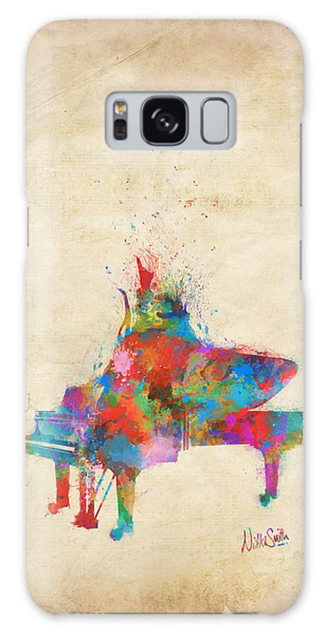 Piano Galaxy Case featuring the digital art Music Strikes Fire From The Heart by Nikki Marie Smith