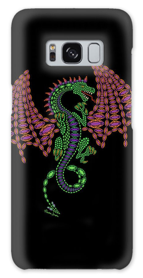 Jeweled Galaxy S8 Case featuring the digital art Jeweled Dragon by Heather Schaefer