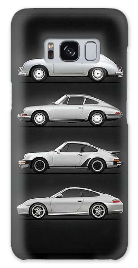 Porsche Galaxy Case featuring the photograph Evolution Of The 911 by Mark Rogan