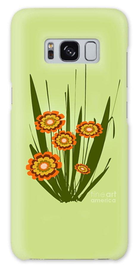 Malakhova Galaxy S8 Case featuring the digital art Orange Flowers by Anastasiya Malakhova