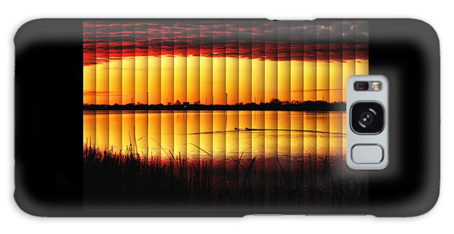 2012 December Galaxy S8 Case featuring the photograph Magnificent Sunrise Swim by Bill Kesler