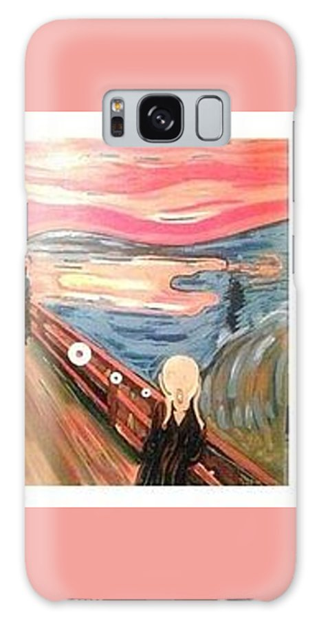 Urban Art Galaxy S8 Case featuring the painting The Smoke Scream No Smoking Please by MERLIN Vernon
