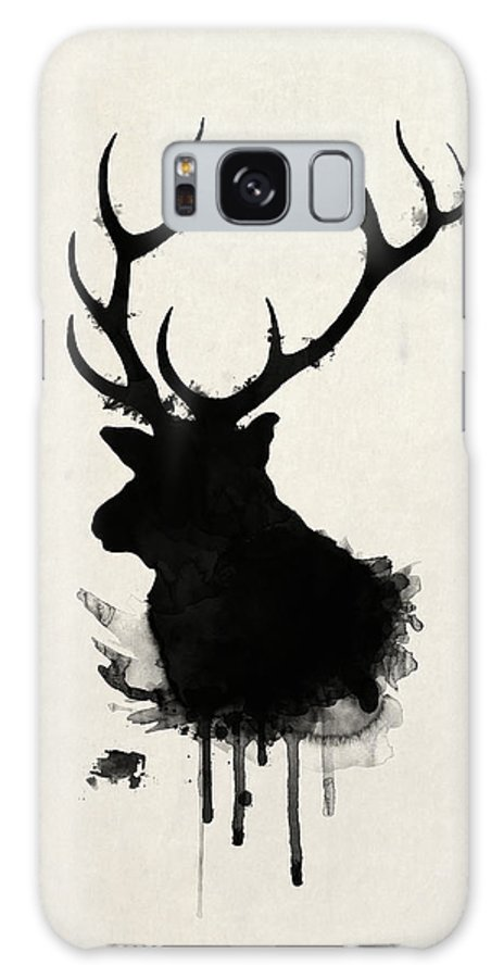 Elk Galaxy S8 Case featuring the drawing Elk by Nicklas Gustafsson