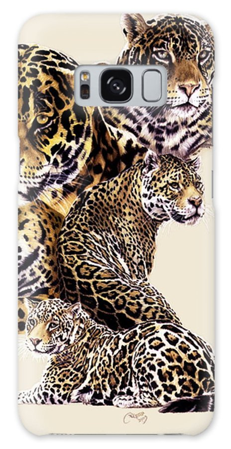 Jaguar Galaxy S8 Case featuring the drawing Burn by Barbara Keith
