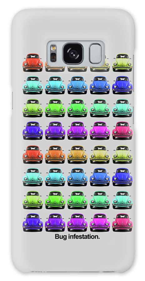 Volkswagen Beetle Galaxy Case featuring the photograph Bug infestation. by Mark Rogan