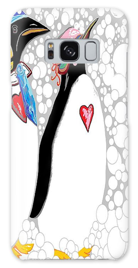 Rhyme Galaxy S8 Case featuring the painting Cold Feet Warm Hearts by Eloise Schneider Mote
