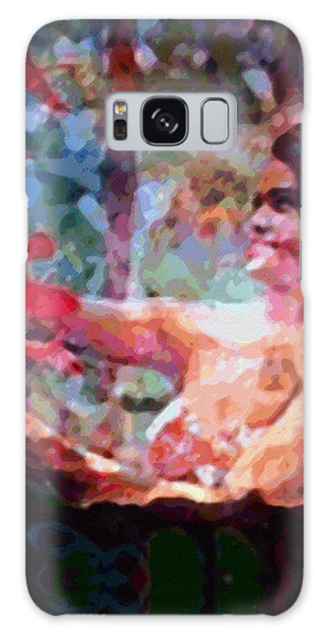Rainbow Colors Digital Galaxy Case featuring the photograph As If by Kenneth Grzesik