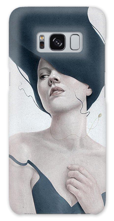 Woman Galaxy Case featuring the digital art Ascension by Diego Fernandez