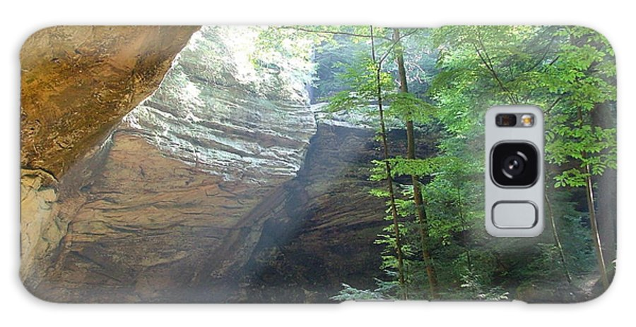 Photograph Galaxy Case featuring the photograph Ash Cave by Mindy Newman