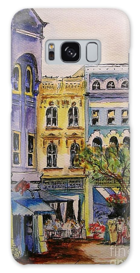 Townhouses Galaxy S8 Case featuring the painting Asheville by Lizzy Forrester