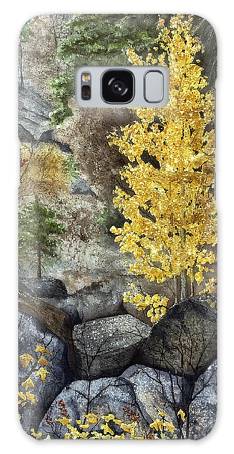 Autumn Galaxy S8 Case featuring the painting Aspen Gold by Mary Tuomi