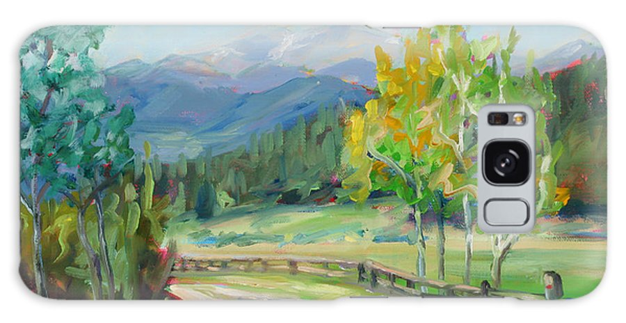 Rocky Mountains Galaxy S8 Case featuring the painting Aspen Lane by Marie Massey
