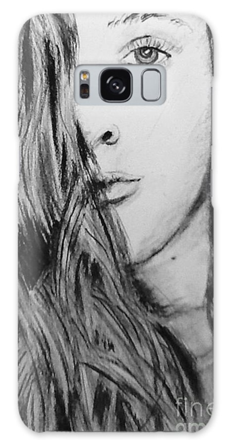 Portrait Galaxy Case featuring the drawing Aspen by Regan J Smith