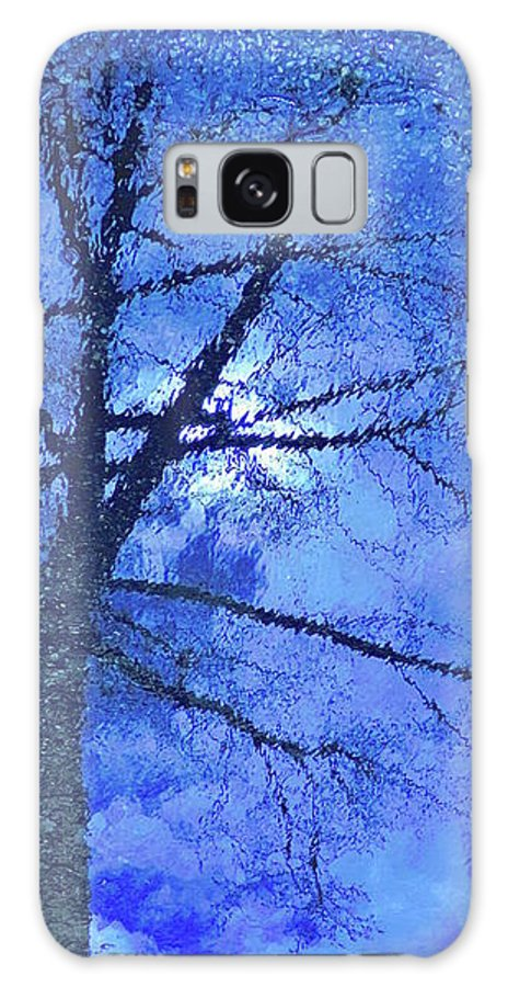 Abstract Galaxy S8 Case featuring the photograph Asphalt-tree Abstract Refection 02 by Jor Cop Images