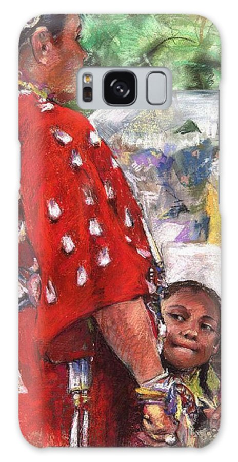 Southwestern Art Galaxy S8 Case featuring the painting Aspire by Debra Jones