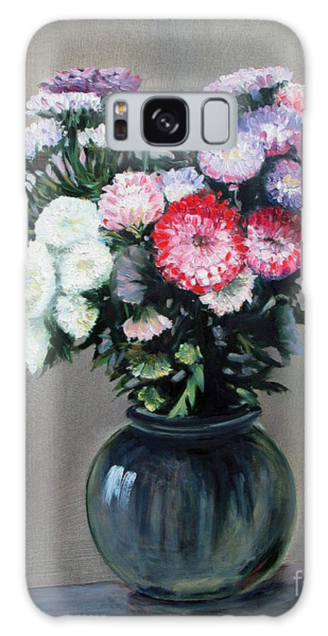 Flowers Galaxy S8 Case featuring the painting Asters by Paul Walsh