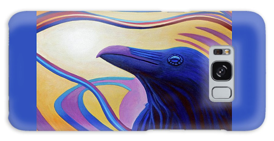 Raven Galaxy S8 Case featuring the painting Astral Raven by Brian Commerford
