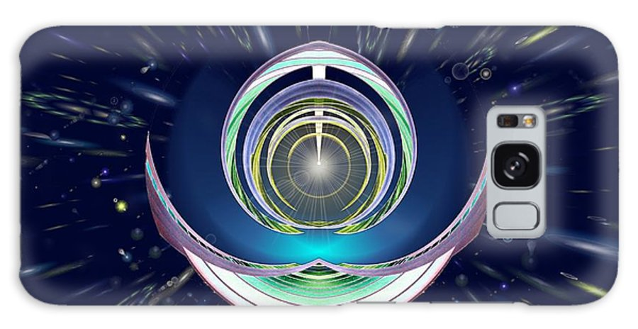 Abstract Galaxy S8 Case featuring the digital art Astral Speedway by Tim Allen